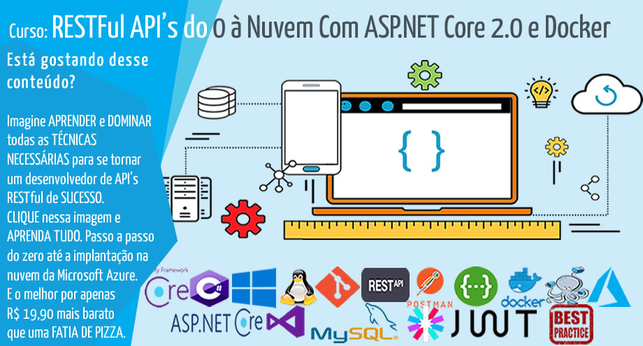 RESTFul API's do 0 à Nuvem Com ASP.NET Core 2.0 e Docker