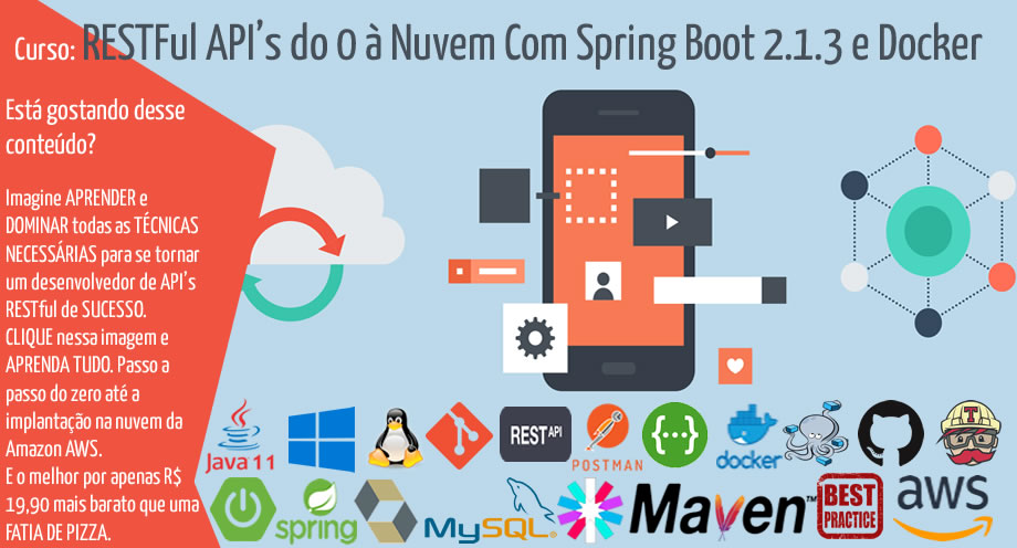 RESTFul API's do 0 à Nuvem Com Spring Boot 2.1.3 e Docker